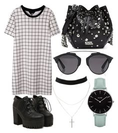 """""""169."""" by plaraa on Polyvore featuring Charlotte Russe, CLUSE, Karl Lagerfeld and Christian Dior"""