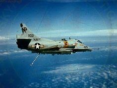 US Navy Douglas A-4F Skyhawk pilot having a bad day, Vietnam War