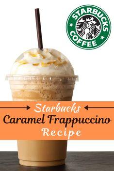 Caramel Frappe Recipe, Starbucks Caramel Frappuccino, Iced Starbucks Drinks, Bebidas Do Starbucks, Homemade Frappuccino, Frappuccino Recipe, Starbucks Recipes, Barista Recipe, Starbucks Coffee