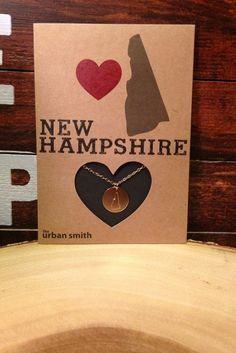 New Hampshire Disc Necklace: 14K Gold