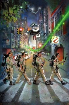 The Beatles, Abbey Road: Ghostbusters by Nick Runge Abbey Road, Ghostbusters 1984, The Real Ghostbusters, Original Ghostbusters, Pixar, Wallpaper Bonitos, Die Geisterjäger, Fan Poster, Print Poster