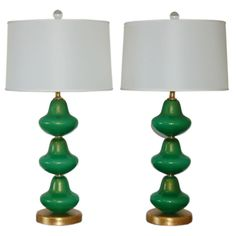 Vintage Murano Stacked Font Lamps by Barovier & Toso