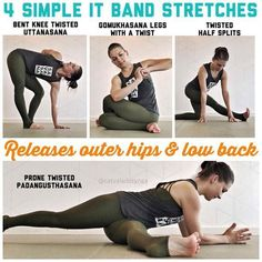 Stretches for releases outer hips and low back #yogaflexibility
