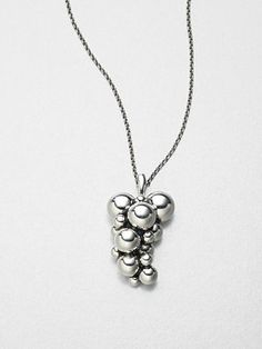 Georg Jensen Sterling Silver Grape Necklace