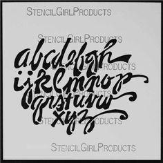 Whimsey Script Stencil
