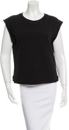 Saint Laurent Ribbed Sleeveless Sweatshirt Hoodies, Sweatshirts, Saint Laurent, Neckline, Stylish, Black, Tops, Women, Plunging Neckline