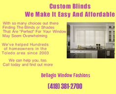 Window blinds for homes or businesses in Perrysburg OH