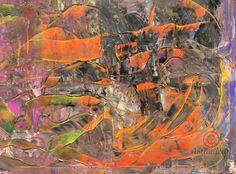 Abstract oil painting - RM 801 - 16 (Painting),  120x100x1.8 cm by Rico Mocellin Die Ölgemälde haben eine abstrakte Stil, viele Farben werden verwendet, um das Ergebnis sind bunte Kunstwerke mit unterschiedlichen Texturen.  Rico Mocellin's Kunstwerke sind das Ergebnis seiner Verrücktheit, in Farben umgewandelt.