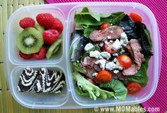 Gourmet Steak Salad with Creamy Avocado Dressing - MOMables® - Healthy School Lunch Ideas