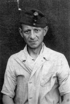 Portrait of Aladar Barber as a Jewish conscript in a Hungarian labor battalion in Sopronbanfalva. 1944-1945.