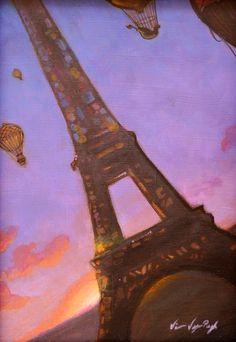 Eiffel 1 by Diana Vega-Pugh from Modern Eden Gallery #Paris