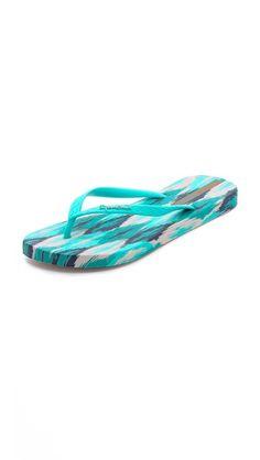 Ikat printed footbed flip-flops!