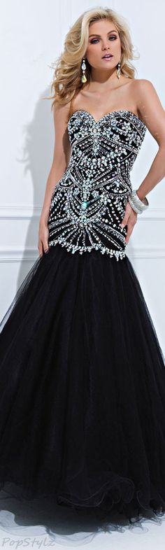 Tony Bowls Mermaid Gown ~chicagobrunette~