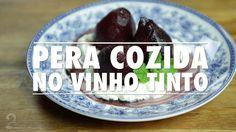 Peras ao vinho tinto com chantilly - Receita l Gourmet a Dois
