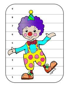 Clown Crafts, Carnival Crafts, Party Activities, Activities For Kids, Art Test, Clown Party, Teaching Aids, Matching Games, Colouring Pages