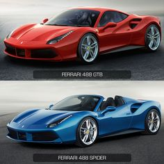 Ferrari 488 GTB vs Ferrari 488 Spider - Design Comparison
