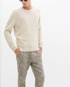 ZARA - MAN - COTTON SWEATER WITH BUTTONS