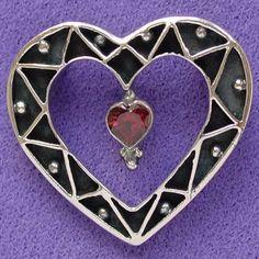 Zigzag Heart Pin