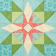 Spring Blossom Foundation pattern here - free quiltmaker