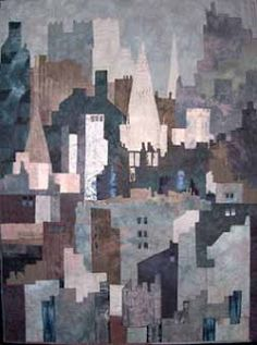 Elizabeth Burton - City of Mists (Art Quilt)