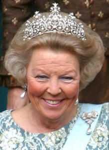 Queen Beatrix wearing The Württemberg Ornate Pearl Tiara in another version