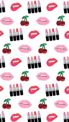 Pop Art Wallpaper, Tumblr Wallpaper, Screen Wallpaper, Pattern Wallpaper, Iphone Wallpaper, Makeup Wallpapers, Cute Wallpapers, Vintage Flowers Wallpaper, Backgrounds Girly