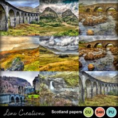 Digital Scrapbooking Kits | Scotland papers-(LinsCre) | Commercial Use, Holidays, Nature, Seasons, Vacations - Travel | MyMemories