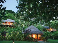 Treehouse bures at Matangi Private Island Resort, Fiji www.islandescapes.com.au