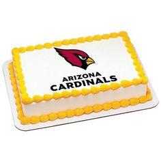 Arizona Cardinals Edible Frosting Sheet Cake Topper  Licensed  14 Sheet >>> You can get additional details at the image link.(This is an Amazon affiliate link and I receive a commission for the sales)