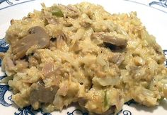 Low Carb Tuna Rice Casserole - I was looking for something different to eat during Lent and stumbled upon this recipe...OMG! Sooo good! I omitted the mushrooms (don't like them), which I'm sure brought down the carb count even more!