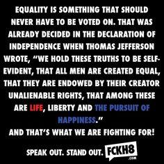 #FCKH8 #equlaity #yesallwomen #LGBT