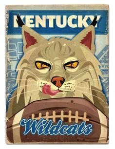 Kentucky football by Thomas Burns, via Behance