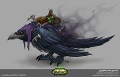 ArtStation - Rogue Mount Raven Concept for World of Warcraft: Legion, Christopher Hayes