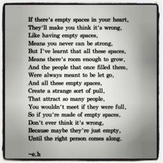 If there's empty spaces....