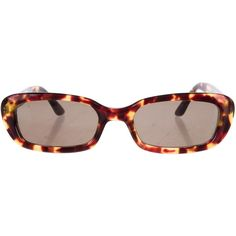 6c4aaa58d1d Pre-owned Gucci Tortoiseshell Resin Sunglasses ( 75) ❤ liked on Polyvore  featuring accessories