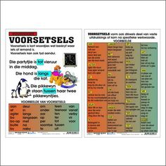 "Full colour wall chart / poster depicting prepositions, in Afrikaans "" Voorsetsels "". This poster describes and gives examples of some common Voorsetsels. Quotes Dream, Life Quotes Love, Free Preschool, Preschool Worksheets, Robert Kiyosaki, Afrikaans Language, Teacher Poems, Tony Robbins, Afrikaanse Quotes"