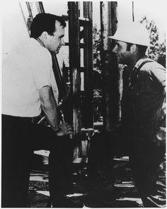 George Bush in the oil fields