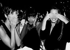 Linda Evangelista, Naomi Campbell & Christy Turlington.