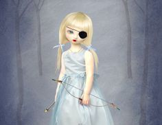 Melancholy Doll Art Print Archery Girl  by HarrietsImagination, $16.07