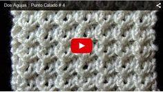 La clase de hoy es para aprender a tejer punto   MIRA EL VIDEO DE ABAJO   calado usando múltiplo de...