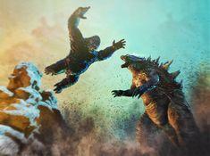 King Kong vs Godzilla by Daniel Scott Gabriel Murray Cool Monsters, Famous Monsters, Classic Monsters, King Kong Vs Godzilla, Godzilla Godzilla, Ohio, Japanese Monster, Creature Feature, Creature Design