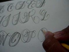 CALLIGRAPHY TUTORIAL LETTERS P,Q,R