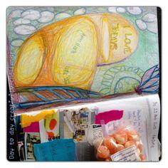 Day to day creativity challenge:  Reise Impressionen - Collage, Farbstift