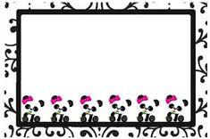Professora Tati Simões: Kit Panda Preto, branco e rosa para imprimir grátis Panda Themed Party, Panda Party, Panda Icon, Panda Birthday, Baby Shower Princess, Ideas Para Fiestas, Alcohol, Kit, Animal Party