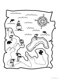 Kleurplaat Piraten Schatkaart Nic Ha Pinterest