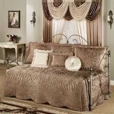 portia i satin quilted daybed bedding set