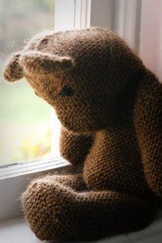 teddy bear  He looks sad....