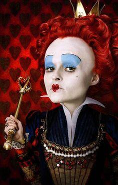 Helena Bonham Carter playing for The Red Queen in Tim Burton's Alice in Wonderland!