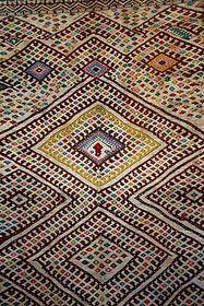 Moroccan Zaiane weaved rug
