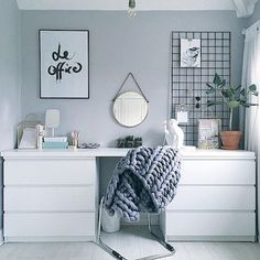 Kitchen Decoration Ideas: Ikea hack Regram via: . - Ikea DIY - The best IKEA hacks all in one place Home And Deco, Home Office Design, Office Style, Grey Office, Minimalist Bedroom, Modern Bedroom, Trendy Bedroom, New Room, Cool Furniture